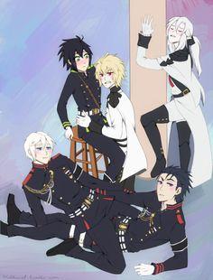 Owari no Seraph Anime Meme, Me Anime, Cute Anime Guys, Anime Naruto, Manga Anime, Family Feud Funny Answers, Funny Family Movies, Funny Family Photos, Kawaii Anime
