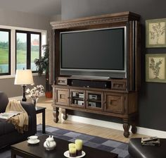Parker House Aria 60in TV Entertainment Armoire   Parker House Aria  Collection Features A Rustic Traditional