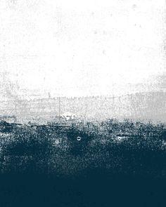 Ocean No. 1 - Minimal ocean sea ombre design  Art Print
