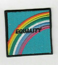 """""""Equality patch"""" Stickers by kressiek Cute Patches, Pin And Patches, Iron On Patches, Jacket Patches, Lgbt, Isak & Even, Sweet Lord, Rainbow Aesthetic, Embroidery Patches"""