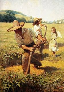 The Scythers, 1908 by N. C. Wyeth,  1882-1945, American artist and illustrator