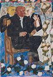 Man with a glove - Arpita  Singh - Live Auction Modern Evening Sale