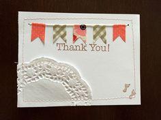 Diy thank you notecard