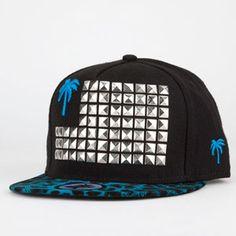 65111dec3cd BLVD Cheetah Studded Mens Snapback Hat