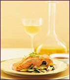 Steamed Ginger Salmon with Stir-Fried Bok Choy | Food & Wine