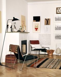 Bohemian Style _ Chairs + Floor Lamp