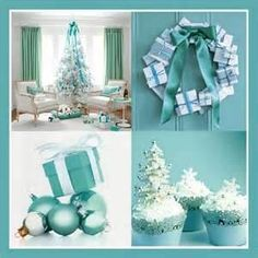 Image Search Results for teal Christmas decorating