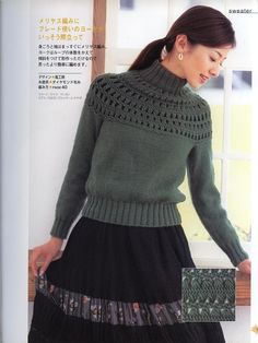 Hairpin Crochet and Knit Jumper with Full pattern.  http://fanaticadeltejido.blogspot.co.uk/2012/08/lets-knit-series-horquilla.html