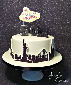 San Francisco New York Las Vegas And UFC Inspired Cake