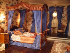 Royal Blue and Copper Silk  Canopy   By Wilson