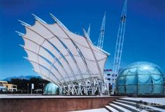 Fabric Architect Looks at Bandshells, Birdair and Biaxial Testing Fabric Structure, Roof Structure, Shade Structure, Building Structure, Organic Architecture, Futuristic Architecture, Landscape Architecture, Membrane Structure, Roof Shapes