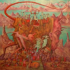 Babylon offering the key to the abyss to the kings of the world (a work in progress) Michael Hutter  By Michael Hutterhttp://www.octopusartis.com/