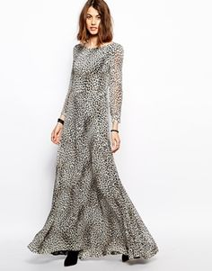 Image 1 of BA&SH Panic Maxi Dress in Leopard Print