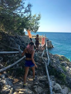 The moment we found the rope bridge to the secret Lighthouse! Croatia