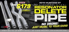 Our all new 409 Stainless Steel Resonator Delete pipe is your answer! This is a complete bolt-in exhaust using the factory clamps. No tuning required and the best part..... NO ADDED DRONE!  Selling for only $179.99 and free shipping until Christmas Eve, this is the item your going to want!!  These are available in either a X or H pipe and.... MADE RIGHT HERE IN AMERICA!!!!