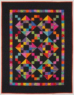 Texas Two-Step: Brights for Lillian by Lynn Roddy Brown, a 100 Blocks designer: lynnroddybrown.com