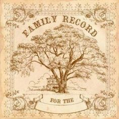 Family tree template vintage royalty free vector image.