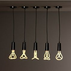 Poketo Plumen Light Bulb. This fluorescent lighting saves 80% on energy, and lasts eight times as long as a standard incandescent bulb. It is no different in functionality than the standard screw-in fluorescent bulb but stands out for its sculptural form radiating warm white light.