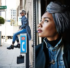 G-Star RAW Episode 1 with Malaysian Musician Yuna Zarai - 2013-2014 Fall Winter Womens Looks - Head Scarf Tapered Cropped Type C Second Skin...