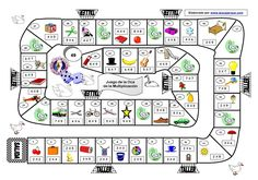 juego-de-la-oca-multiplicacion : Math Board Games, Classroom Games, Math Games, Activities For Kids, Spanish Classroom, Teaching Spanish, Teaching Math, Familia Y Cole, Spanish Games