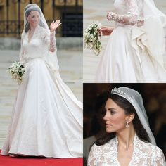 Veil inspiration. I love how soft and sheer the veil is, it's almost floating over her. I love the idea of having the veil attached to the back of the headpiece. I think the veil looks classic and simple while over her face, or folded back.