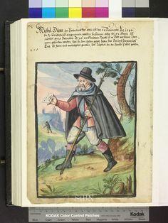 1596 messenger with spear  Die Hausbücher der Nürnberger Zwölfbrüderstiftungen