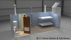 shelter inside side hill | NBC Fallout Shelters - 3d Models - 7x8x20 Black Clouds, Shtf, Bunker, Shelters, Fallout, Crafty, Models, 3d, Furniture