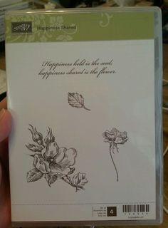 Stampin Up HAPPINESS SHARED Clear Mt Stamp Set MAGNOLIA FLOWER Leaf Saying #StampinUp #HappinessShared