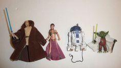 Star Wars Action Figure Lot - Princess Leia Slave Bikini Yoda R2D2 Obi Wan  #StarWars