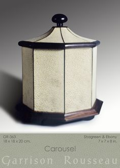shagreen  ebony carousel box