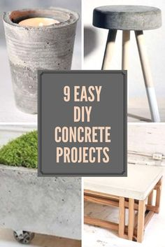 There are a lot of simple concrete projects a beginner can accomplish. Check out our favorite concrete DIY projects for house and home.