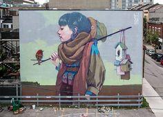 Los monumentales murales surrealistas de Etam Cru