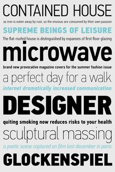 PF DIN Text Condensed Pro by Parachute®, via Behance
