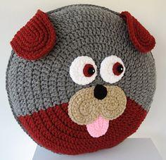 Dog Puppy Pillow - Cushion CROCHET PATTERN - crochet patterns for animal pillows - Kids Birthday present - Baby shower nursery gift Crochet Pillow Pattern, Crochet Cushions, Crochet Patterns, Dog Pattern, Knitting Patterns, Kids Pillows, Animal Pillows, Crochet Home, Crochet For Kids