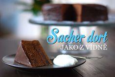 Když se řekne Sacher dort, každý se chce dostat co nejblíž originálnímu receptu. I já. Když jsem ještě bydlela ve Vídni, kavárna hotelu Sacher na rohu u Opery byla mou oblíbenou destinací. Kafe tam stojí... Wiener Melange, Chocolate Spread, Sweets Cake, Learn To Cook, Pavlova, Churros, Sweet Life, Sweet Recipes, Waffles