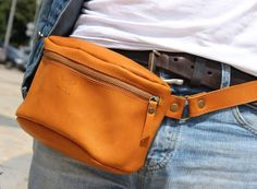 Genuine leather belt bag fanny pack waist bag от ArtLeatherDesign