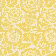 Designer: Joel Dewberry   Collection: Heirloom   Print Name: Blockprint Blossom in Dandelion