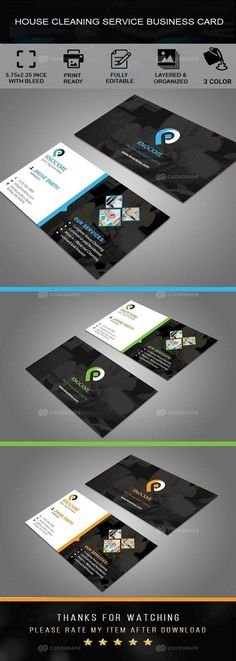 This is a House Cleaning Service Business Card. This template download contains- 300 dpi, print-ready, CMYK PSD files. Can be used for individual business or corporation that does residential or commercial cleaning. It Can also be used for other industries with simple edits. This is a both industry specific and multi purpose usable business card template. All main elements are editable and customizable.