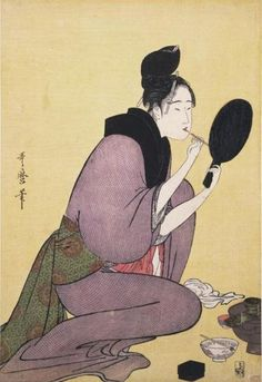 Painting Her Lips by Utamaro (mid-1790s)