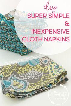 DIY cloth napkins su