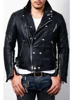 Crazy Sale Tumbled Biker 5size-Leather 02 - GUYLOOK