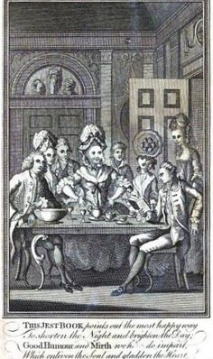 """""""The Covent Garden Jester"""" - A Joke Book printed in the latter half of the 18th Century under various names, rehashing old material, puns, adding fresh jokes, sayings and anecdotes to each new volume."""