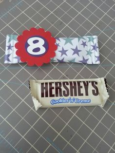 Chocolates empacados para fieta de 8 años!!