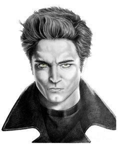 Robert Pattinson - Twilight's Edward by Murphy Elliott ~ traditional pencil art