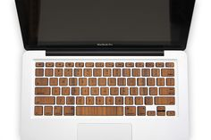 Macbook wood keyboard from Rosewood made from real wood