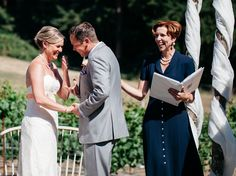 Kevin and Erika, married on Whidbey Island, 2015.  Officiant:  Annemarie Juhlian