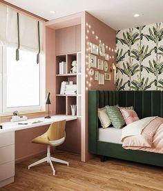 Home Design Living Room, Room Design Bedroom, Girl Bedroom Designs, Indian Bedroom Design, Interior Exterior, Interior Design, Cozy Room, Dream Rooms, House Rooms