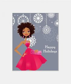 Our Jade African American Christmas Card showcases a natural beauty ready to celebrate the Holidays.  Get it now from Sweet Berry Lane.