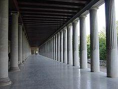 Stoà d'Àtal reconstruïda a Atenes (arquitectura hel·lenística)