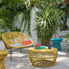 BuyHouse by John Lewis Salsa 2-Seater Garden Sofa, Saffron Online at johnlewis.com